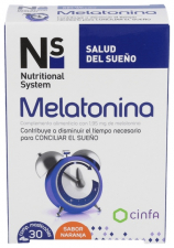 N+S Melatonina Comp Masticables Naranja 1.95 Mg - Cinfa