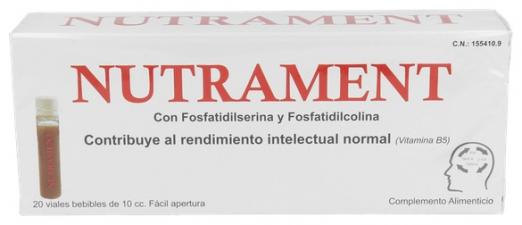 Nutrament 20 Viales 10 Ml - ionfarma