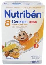 Nutriben 8 Cereales Con Miel Y Frutos Secos 600 - Alter Fcia