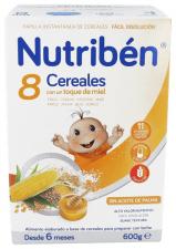 Nutriben 8 Cereales Y Miel 600 G - Alter Fcia