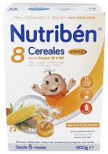 Nutriben 8 Cereales Y Miel Fibra 600 G - Alter Fcia