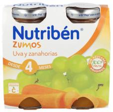 Nutriben Zumo Uva Y Zanahorias 130 Ml 2U Bipack - Alter Fcia