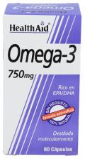 Omega-3 750 mg 60 Cápsulas Health Aid
