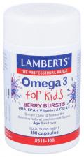 Omega 3 For Kids 100 Cápsulas Lamberts - Lamberts