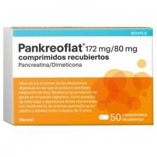 Pankreoflat Pankreoflat 172 Mg/80mg (50 Grageas)