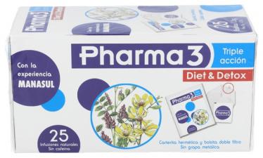 Pharma 3 Triple Accion 25 Bolsas