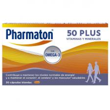 Pharmaton 50 Plus 30 cápsulas blandas vitaminas energía omega