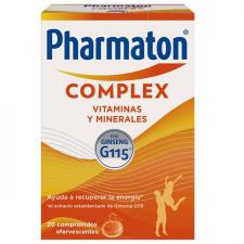 Pharmaton Complex 20 comprimidos efervescentes vitaminas energía ginseng - Sanofi
