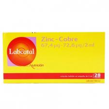 Labcatal 19 Zinc Cobre 28 Ampollas