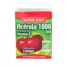 Acerola 1000 Vitamina C 24 Comprimidos Super Diet