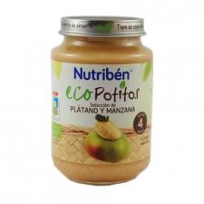 Ecopotito Nutribén Selección de Platano y Manzana 200 Gr