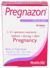 Pregnazon 30 Comprimidos - Health Aid