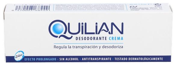 Quilian Crema Antisudorante 30 - Laboratorios Viñas