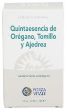 Quinta Esencia Oregano-Tomillo-Ajedrea 10 Ml. - Forza Vitale