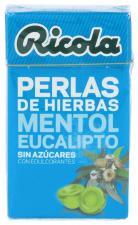 Ricola Perlas Sin Azúcar Mentol Eucalipto 25 gr.