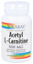 Acetyl L-Carnitine 500Mg 30 Capsulas Solaray