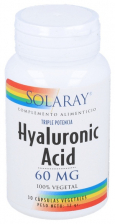 Hyaluronic Acid 60 Mg 30 Cáps. Vegetal.
