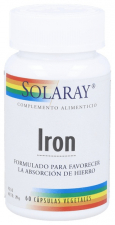 Solaray Iron 25 Mh 60 Cápsulas