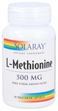 L-Metionina 500 Mg 30 Capsulas Solaray