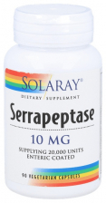 Solaray Serrapeptase 10 Mg 90 Cápsulas