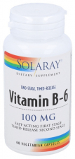 Solaray Vitamin B6 100Mg