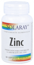 Zinc 50 Mg 60 Capsulas Solaray
