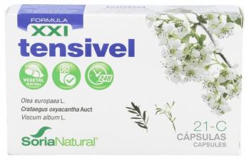 Soria Natural Cap. C-21 Tensivel Xxi Olivo+Esp. Blanco+Abe 30 Cap.  - Farmacia Ribera