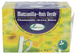 Soria Natural Inf.Manzanilla Anis Verde 20Uni - Farmacia Ribera