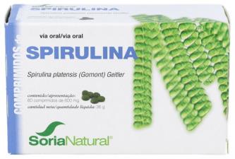 Soria Natural Spirulina 600Mg 60 Comprimidos