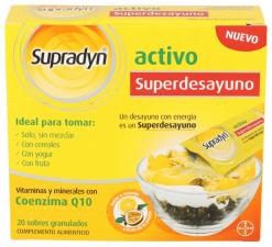 Supradyn Activo Superdesayuno Vitaminas Desayuno Energía 20 sobres - Farmacia Ribera