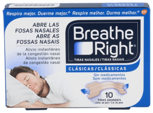 Tiras Nasales Breathe Right 10 Unidades Grandes