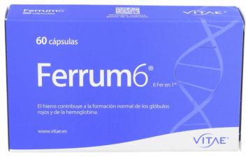 Vitae Ferrum 6 60 Cápsulas - Farmacia Ribera