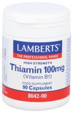Vitamina B-1 100 Mg.(Tiamina) 90 Cap.  - Lamberts