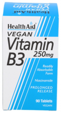 Vitamina B3 (Niacinamida) 250 mg 90 Comprimidos - Health Aid