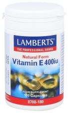 Vitamina E 400Ui 180 Cápsulas Lamberts - Lamberts