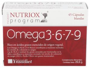Ynsadiet Omega 3-6-7-9 45 Cápsulas Nutriox - Farmacia Ribera